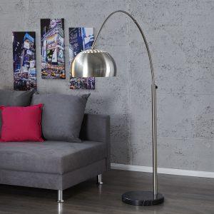 Golvlampa Big Bow II krom b. 170-210cm