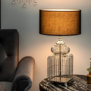 Bordslampa Bur 68 cm silver