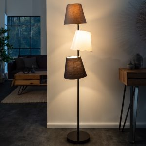 Golvlampa Nivåer 163 cm svartgrå