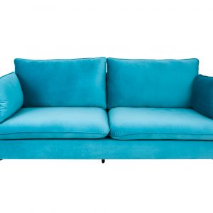 Berömd soffa 210cm aqua sammet
