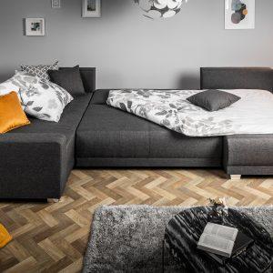 Hörn soffa Skräddare 340cm mörkgrå