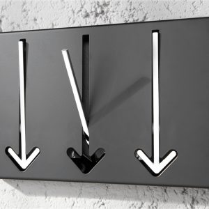 Väggrockställ Arrow 3er svart /