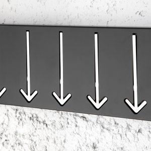 Väggrockställ Arrow 5er svart /