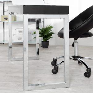 Laptopbord Skrivbord 120x40cm svart /