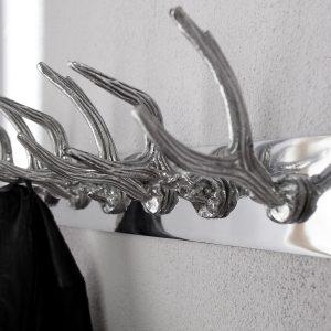 Väggrockställ Hjort 50cm silver /