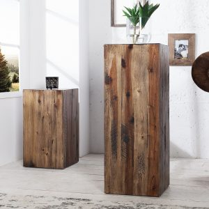 Columna 50cm vintage brun akacia /