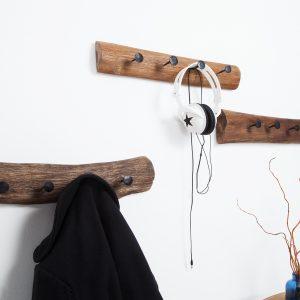 Väggrockställ Hemingway 50cm återvunnet trä /