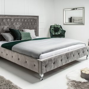 Extravagancia säng 180x200cm silvergrå /