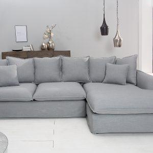 Hörnsoffa Heaven 255cm linne grå /