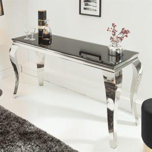 Konsol Modern barock 140cm svart /
