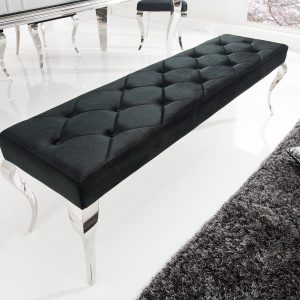 Bänk Modern barock 170cm svart /