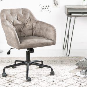 Dutch Comfort kontorsstol, armstöd taupe /