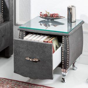 Sängbord extravagancia 45cm antikgrå /