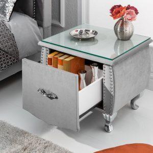 Sängbord Extravagancia 45cm silvergrå /