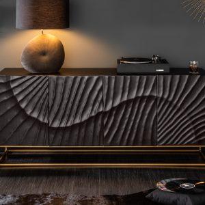 Sideboard Scorpion 177cm mango svart /
