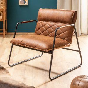 Mustang Lounger fåtölj vintage ljusbrun /