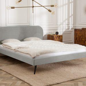 Berömd säng 160x200cm silvergrå sammet /