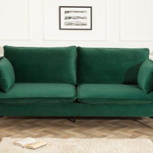Berömd soffa 210cm grön sammet / 40086