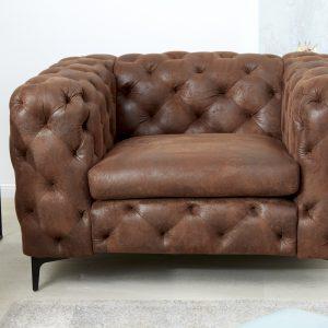 Fåtölj modern barock antikbrun /