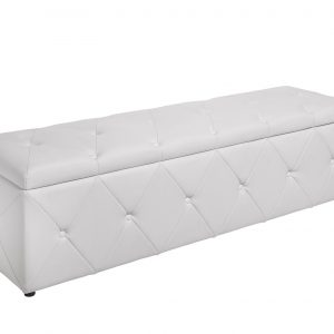 Bänk Extravagancia 140cm konstläder vit /
